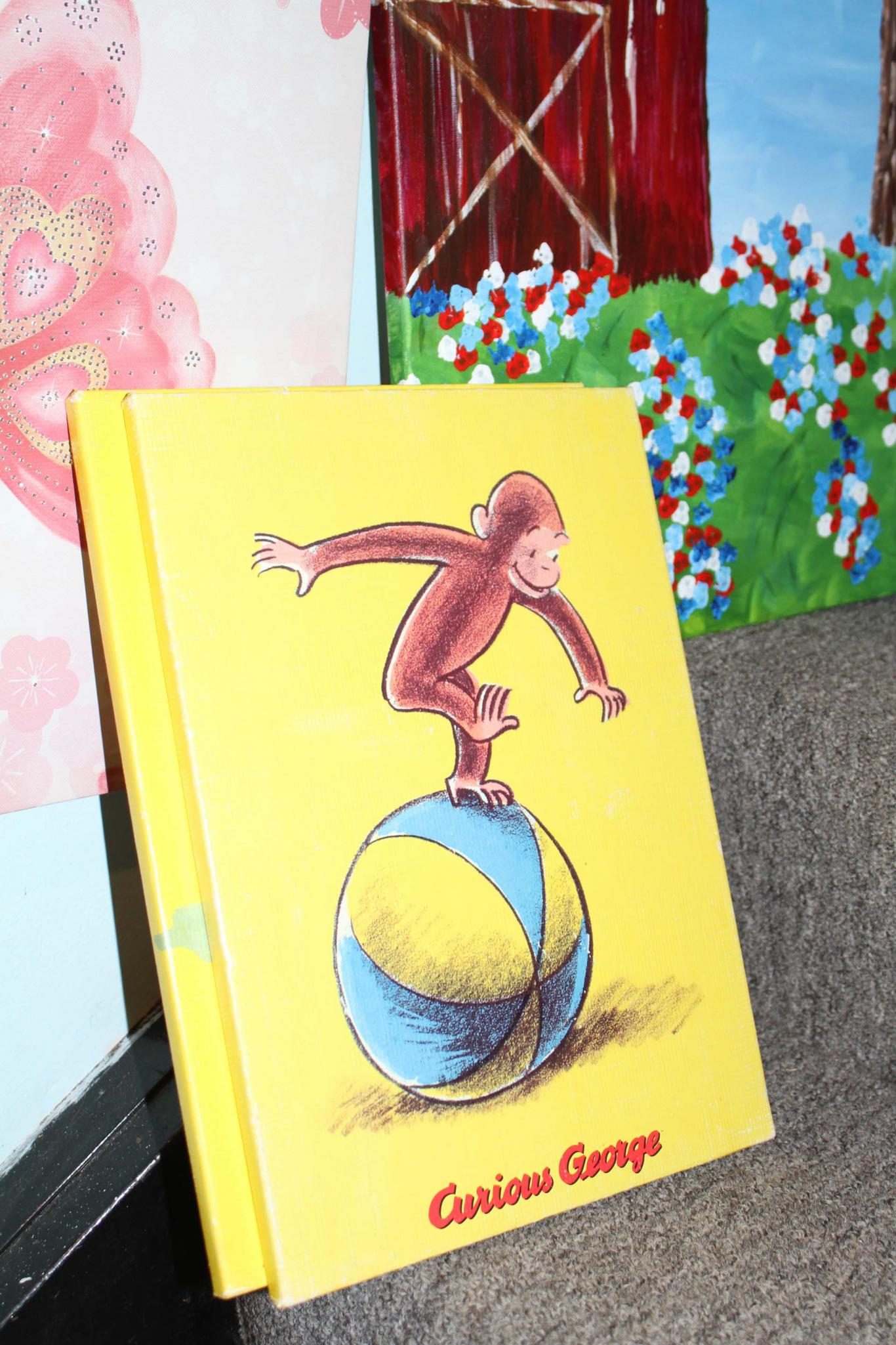 Curious George set of Three Wall Plaques canvas pictures